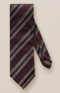 Eton Bold Stripe Tie Burgundy