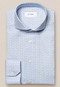 Eton Botanical Signature Poplin Shirt Light Blue