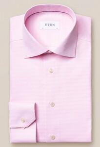 Eton Brocade Faux Uni Overhemd Roze