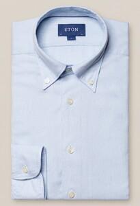 Eton Button Down Uni Overhemd Licht Blauw