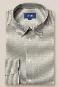 Eton Button Under Piqué Overhemd Groen
