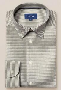Eton Button Under Piqué Shirt Green