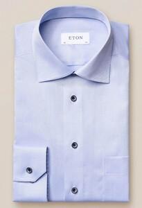 Eton Classic Uni Signature Twill Overhemd Licht Blauw