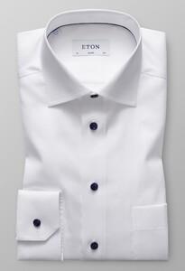 Eton Classic Uni Signature Twill Overhemd Wit