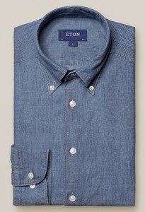 Eton Denim Button Down Overhemd Licht Blauw