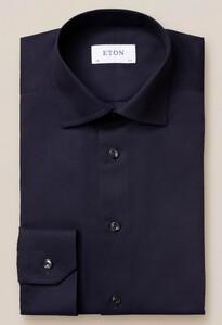 Eton Diagnal Twill Cutaway Overhemd Navy