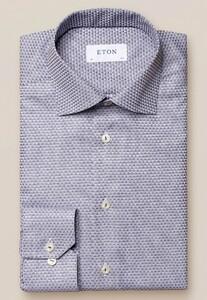 Eton Dobby Check Overhemd Navy