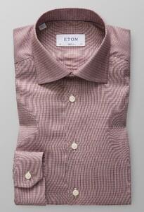 Eton Dobby Cotton-Tencel Overhemd Rijk Roze