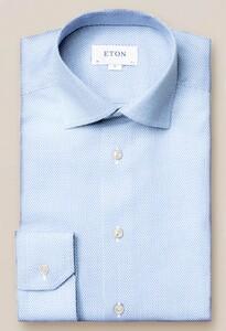 Eton Dobby Cutaway Overhemd Licht Blauw