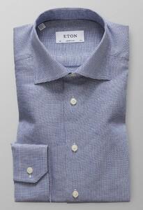 Eton Dobby Micro Fantasy Overhemd Sky Blue