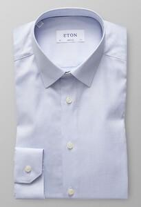 Eton Dobby Uni Structure Overhemd Blauw