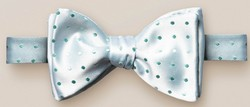 Eton Dotted Silk Self Tied Strikje Pastel Groen Melange