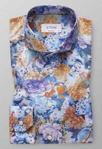 Eton Extreme Cutaway Cotton Tencel Fantasy Overhemd Sky Blue