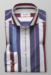Eton Extreme Cutaway Striped Cotton Tencel Overhemd Multicolor