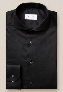 Eton Extreme Cutaway Twill Stretch Shirt Black