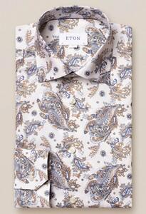 Eton Fantasy Paisley Overhemd Off White