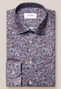 Eton Fantasy Paisley Signature Twill Overhemd Rood-Multi