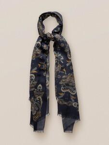 Eton Fantasy Paisley Sjaal Midnight Blue