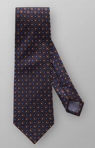 Eton Fantasy Pattern Tie Tie Dark Blue-Brown