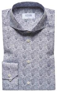 Eton Fashion Paisley Shirt Navy