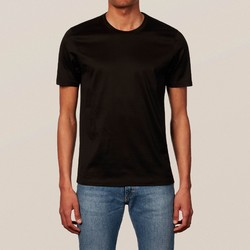 Eton Filo di Scozia Cotton T-Shirt T-Shirt Black Melange Dark