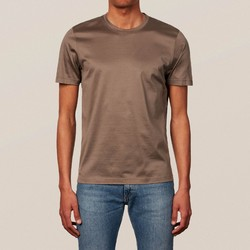 Eton Filo di Scozia Cotton T-Shirt T-Shirt Dark Brown Melange