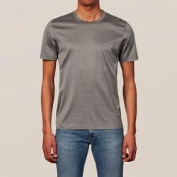 Eton Filo di Scozia Cotton T-Shirt T-Shirt Donker Grijs Melange