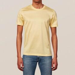 Eton Filo di Scozia Cotton T-Shirt T-Shirt Licht Oranje