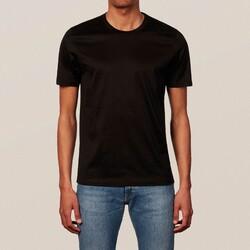 Eton Filo di Scozia Cotton T-Shirt T-Shirt Zwart Melange