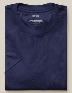 Eton Filo di Scozia Jersey T-Shirt Avond Blauw
