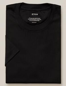 Eton Filo di Scozia Jersey T-Shirt Black Melange Dark