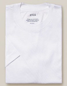 Eton Filo di Scozia Jersey T-Shirt White