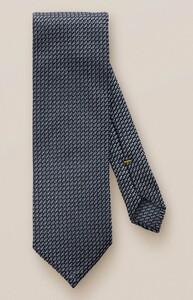 Eton Fine Contrast Silk Tie Light Blue-Navy