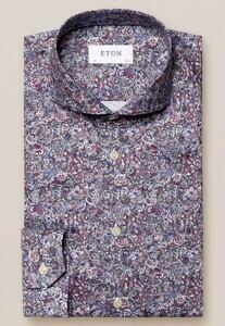 Eton Fine Fantasy Paisley Overhemd Rood-Multi