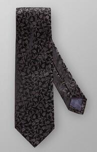 Eton Fine Floral Pattern Tie Black
