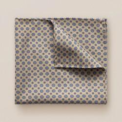 Eton Fine Pattern Double Sided Pochet Beige