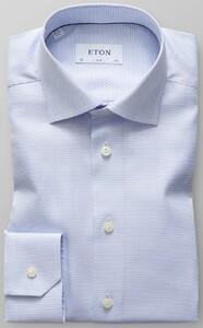 Eton Fine-Structure Luxury Twill Overhemd Licht Blauw