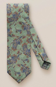 Eton Fine Stylish Paisley Tie Linden Green
