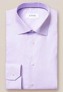 Eton Fine Twill Micro Check Overhemd Lavender
