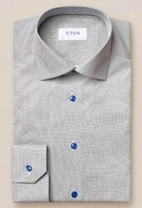 Eton Fine Twill Micro Pattern Overhemd Blauw