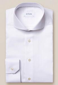 Eton Fine Twill Uni Overhemd Wit