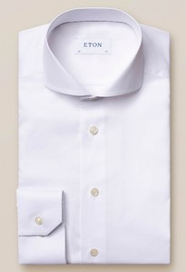Eton Fine Twill Uni Shirt White