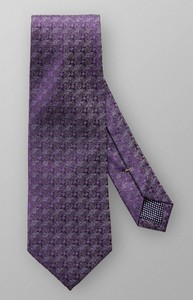 Eton Fine Woven Pattern Tie Dark Purple