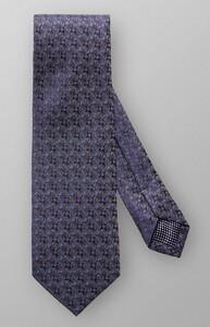 Eton Fine Woven Pattern Tie Navy