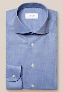 Eton Flanel Ultra Soft Overhemd Blauw