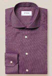 Eton Flanel Ultra Soft Overhemd Donker Rood
