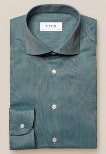 Eton Flanel Ultra Soft Overhemd Groen