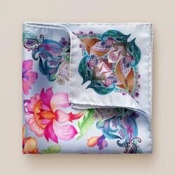 Eton Floral Fantasy Pochet Blauw