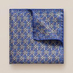 Eton Floral Fantasy Pochet Donker Blauw