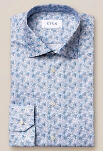 Eton Floral Fantasy Signature Twill Overhemd Blauw